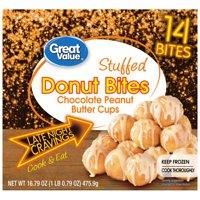 Great Value Chocolate Peanut Butter Donut Bites, 17 oz