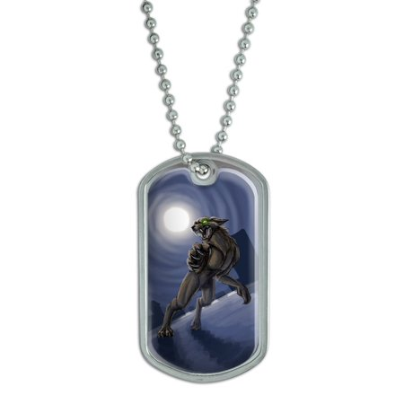 Werewolf - Wolf Full Moon Halloween Scary Night Dog Tag for $<!---->