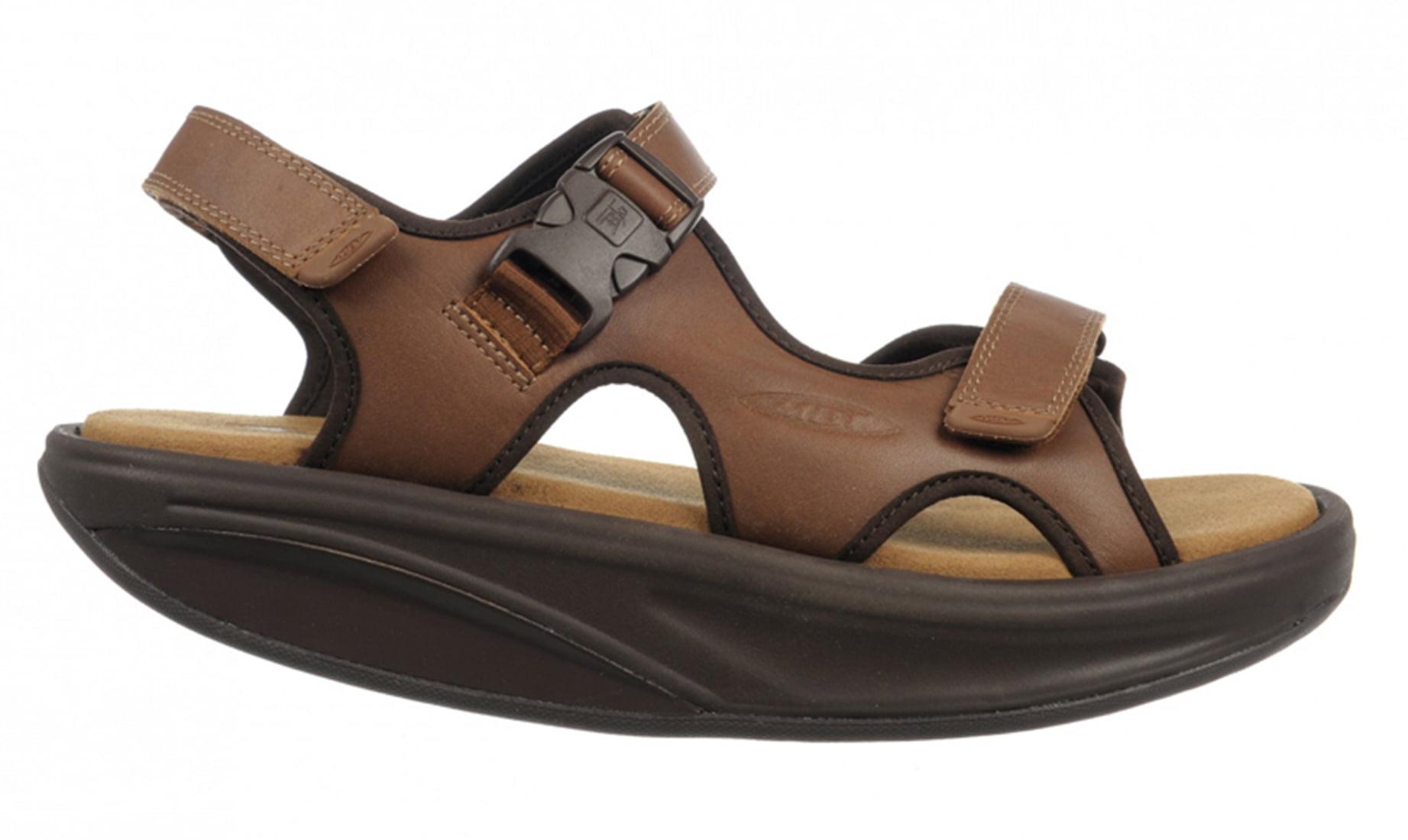 a6be1292242b Mbt - MBT Shoes Men s Kisumu 3S Leather Sandal  6 Medium (D) Sandal Brown  Velcro - Walmart.com