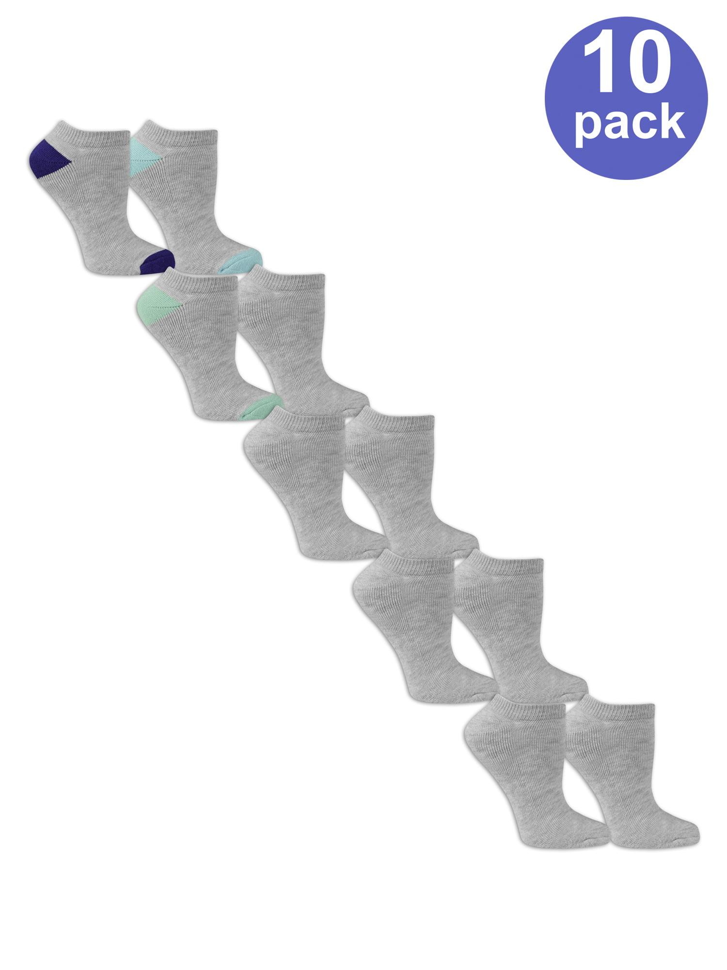 Ladies Half Cushion No Show Socks, 10 Pair