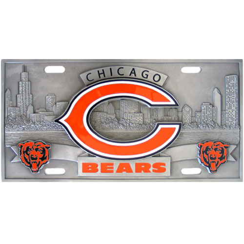 Chicago Bears Official NFL 3D License Plate by Siskiyou 790058