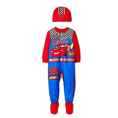 72807511f CARS - Cars Disney Pixar 3 Toddler Boys Footed Pajamas Blanket ...