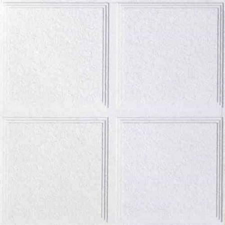 USG Ceilings Luna Pedestals IV 23.75 in. W x 0.75 in. L Mineral Fiber Shadow Line Tapered (0.75 Tiles)