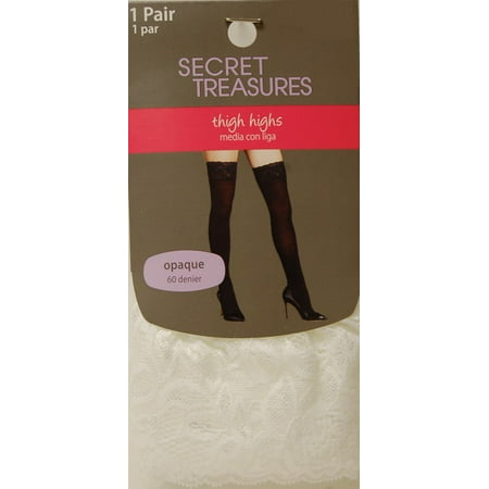 d0a13557e8c George - Women s Lace Top Thigh High Tights - Walmart.com