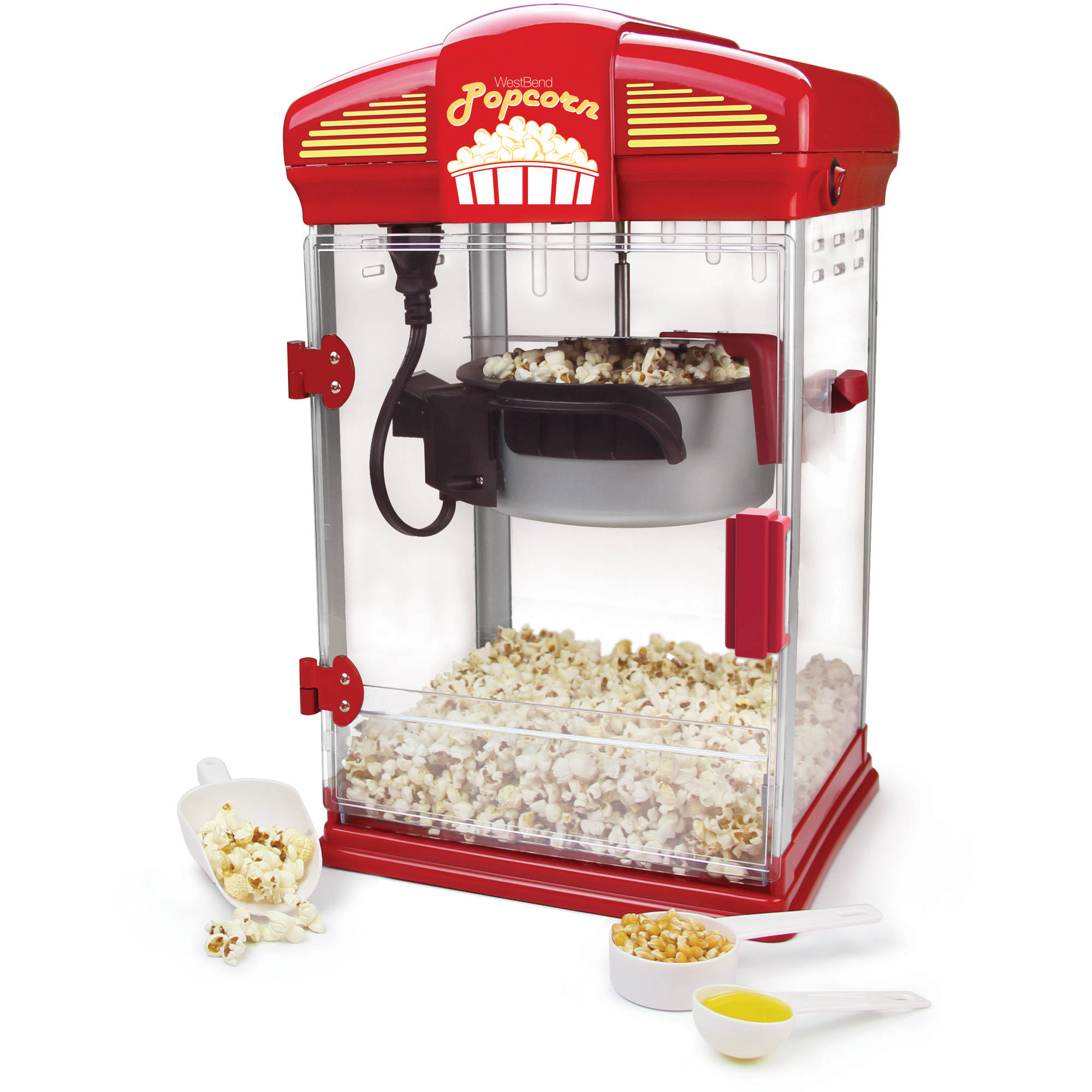 Tostadora West Bend Stir Crazy Theater Popcorn Machine + West Bend en VeoyCompro.net