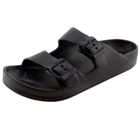 Women's Lightweight Comfort Soft Slides EVA Adjustable Double Buckle Flat Sandals (FREE SHIPPING)
