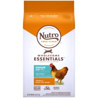 Nutro Wholesome Essentials Natural Dry Cat Food, Indoor Cat Adult Chicken and Brown Rice Recipe, 5 lb. Bag