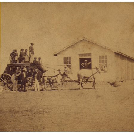 United States Express Overland Stage Starting For Denver From Hays City Kansas Was Guarded By Five African American Soldiers Photo By Alexander Gardner Ca 1867