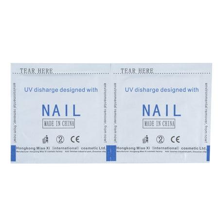 Soak Bag (200pcs/set UV Gel Polish Remover Wraps Nail Art Soak Off Acrylic Cleanser Pads Easy Tear Bag Pack Acetone Nail Polish Removal Tools )