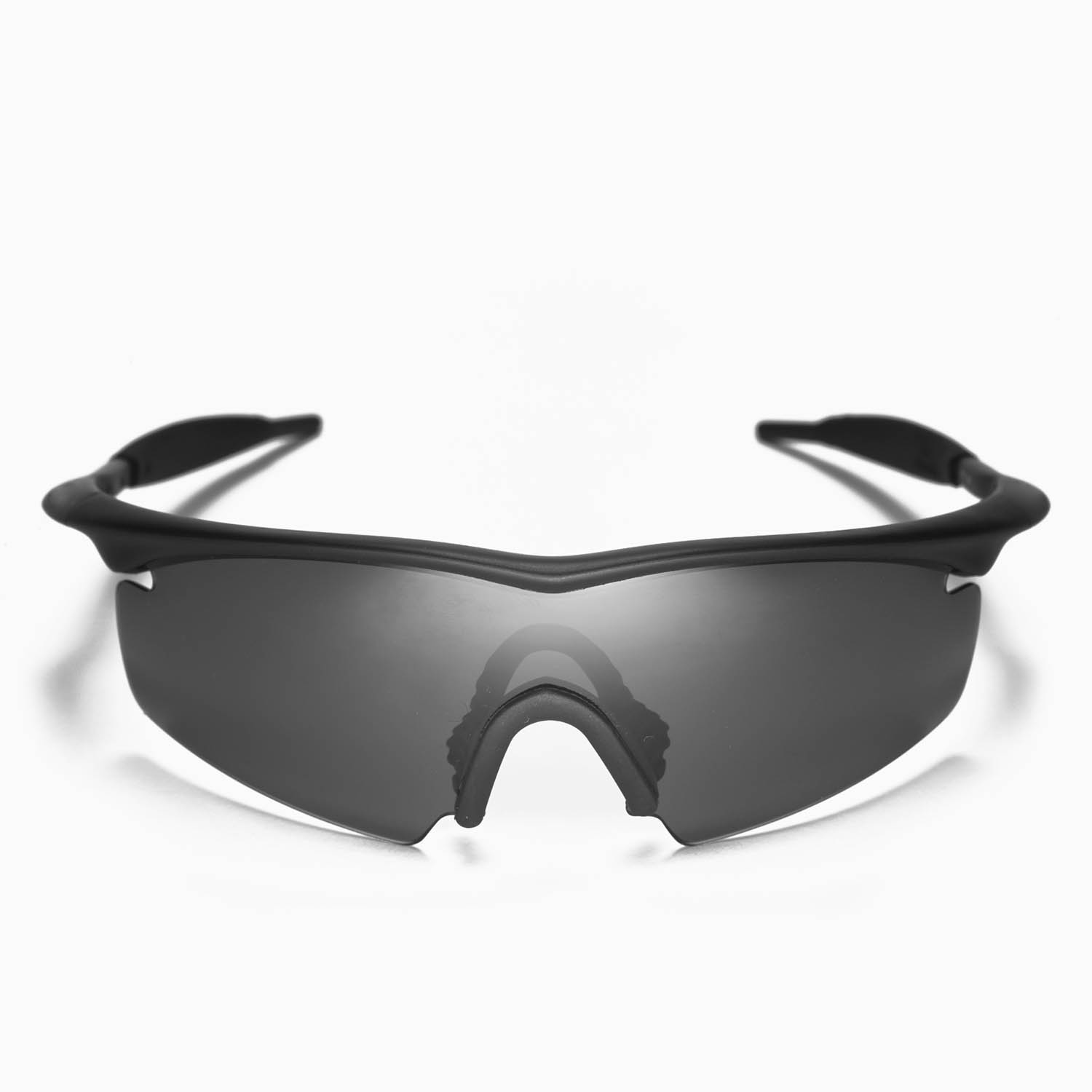 Walleva Black Mr. Shield Polarized Replacement Lenses And Black ...