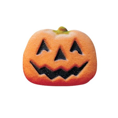 Pumpkin Face Sugar Decorations Toppers Cupcake Cake Cookies Halloween Party Favors 12 Count