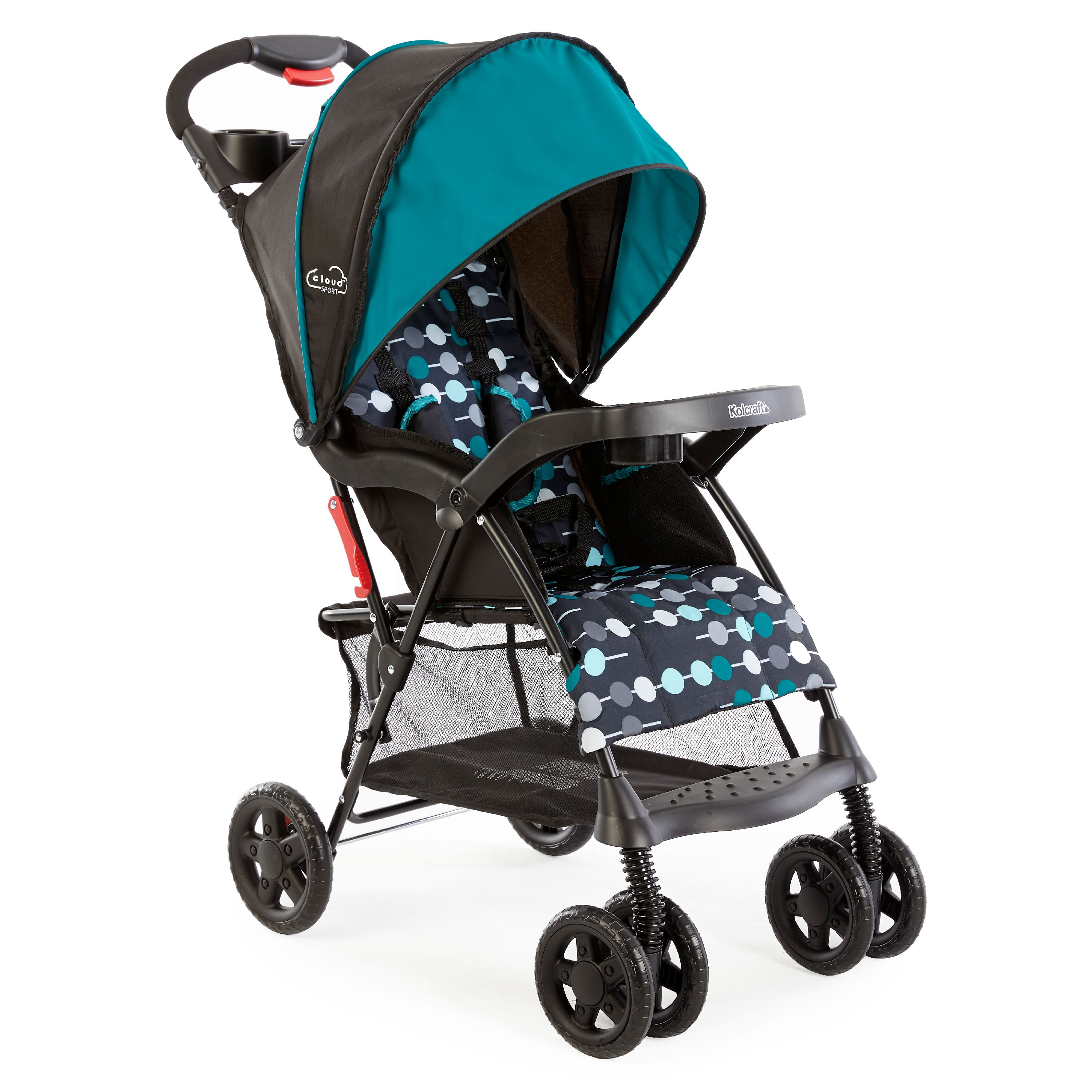 Kolcraft Cloud Sport Lightweight Stroller, Teal by Kolcraft