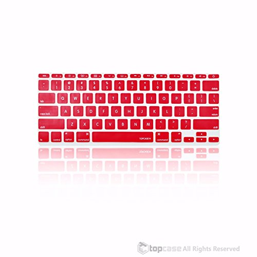 "TopCase Wine Red Silicone Keyboard Cover Skin for New Macbook Air 11"" Model: A1465"