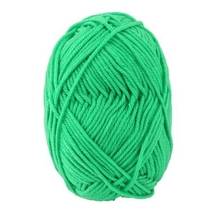 Fiber Handmade Crochet Scarf Socks Gloves Sweater Knitting Yarn Cord Green 25G