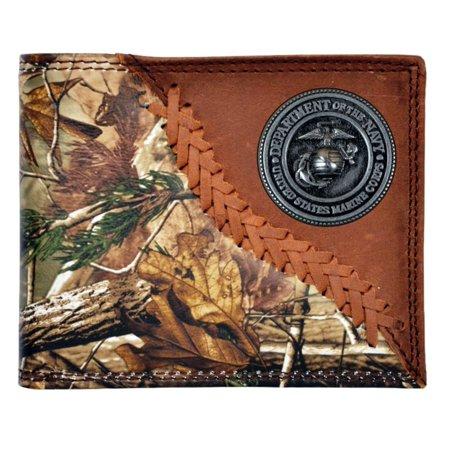 Custom Badger brand U S Marines Realtree AP Camo Wallet Bi-fold Wallet (Texas Tri Fold Wallet)