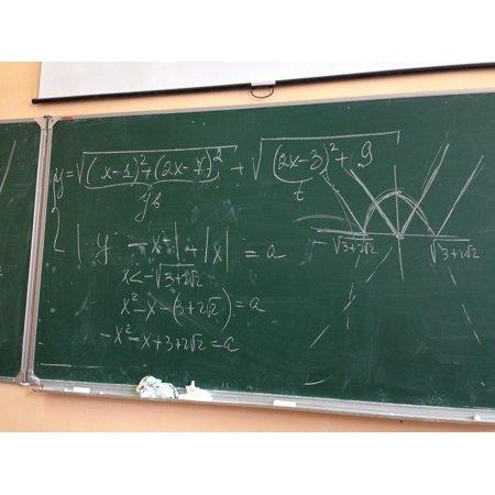 - LAMINATED POSTER Doskva Algebra Mathematics Homework Mel School Poster Print 24 x 36