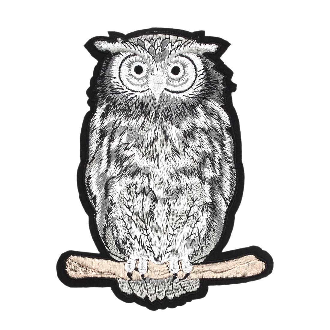 Unique Bargains Household Polyester Owl Shape DIY Sewing Clothes Patch Decor Lace Applique Black