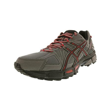 newest 80c50 c2b6d Asics Men's Gel-Kahana 8 Shark / Black True Red Ankle-High Fabric Running  Shoe - 12M