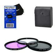 67mm Multi-Coated professional 3 Piece Lens Filter Kit (UV-CPL-FLD) For The Nikon 18-105mm f/3.5-5.6G ED VR AF-S DX Nikkor Autofocus Lens with HeroFiber® Ultra Gentle Cleaning Cloth