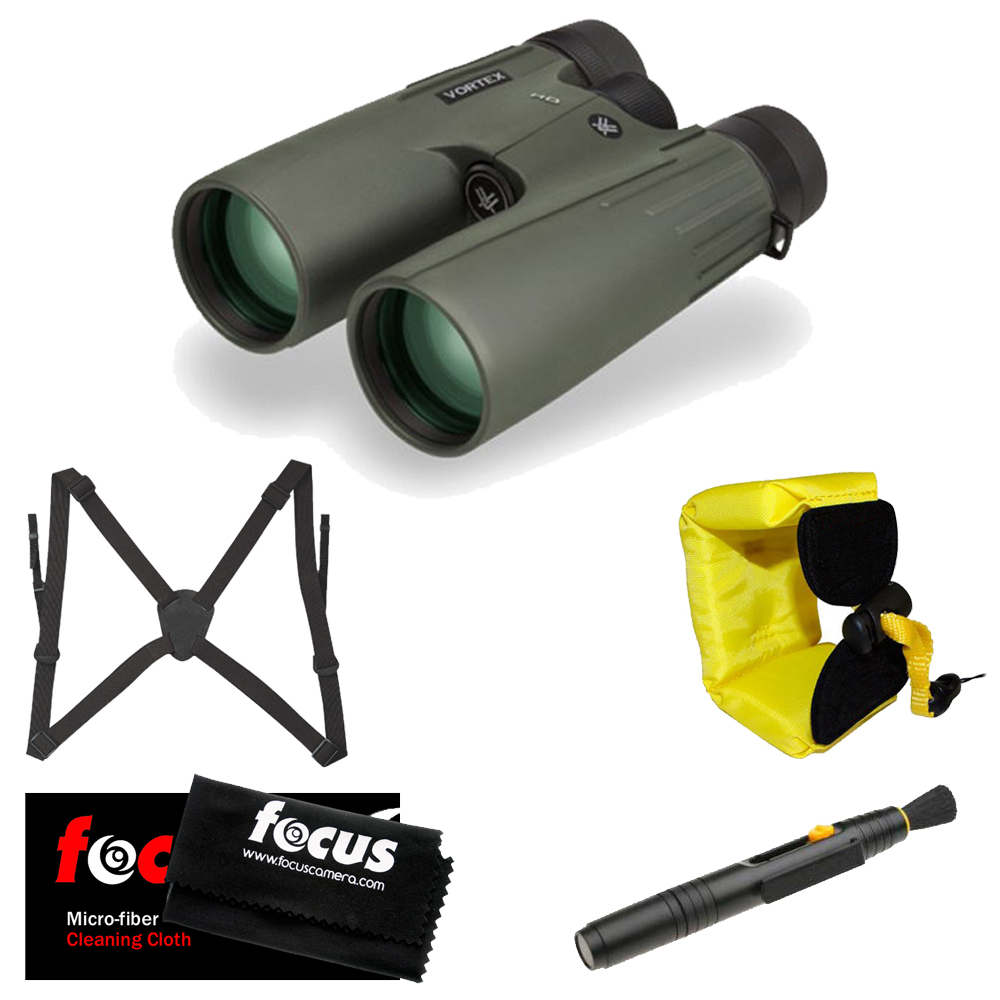 Vortex Optics 10x50 Viper HD Binocular with Harness and Accessory Kit by Vortex Optics