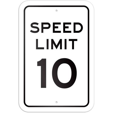 Speed Limit 10 Sign (Yellow Speed Limit Signs)