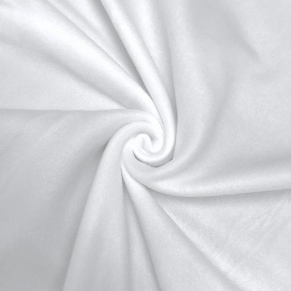 """Solid Polar Fleece Fabric Anti-Pill 60"""" Wide By the Yard Many Colors (White)"""