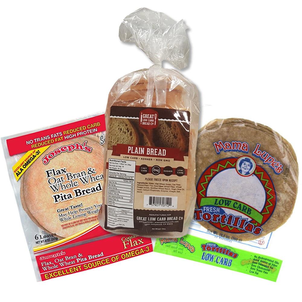 Low Carb Bread Box, Keto Box, Great Low Carb Bread Company, Mama Lupe Tortillas, Joseph's Low Carb Pita