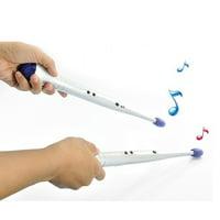 HURRISE 1Pair Musical Toy Instrumen Creative Lightweight Rhythm Sticks Electronic Rock Beat Rhythm Drum Sticks Air Drumsticks for Children Toy Musical Instrument Tool Kids
