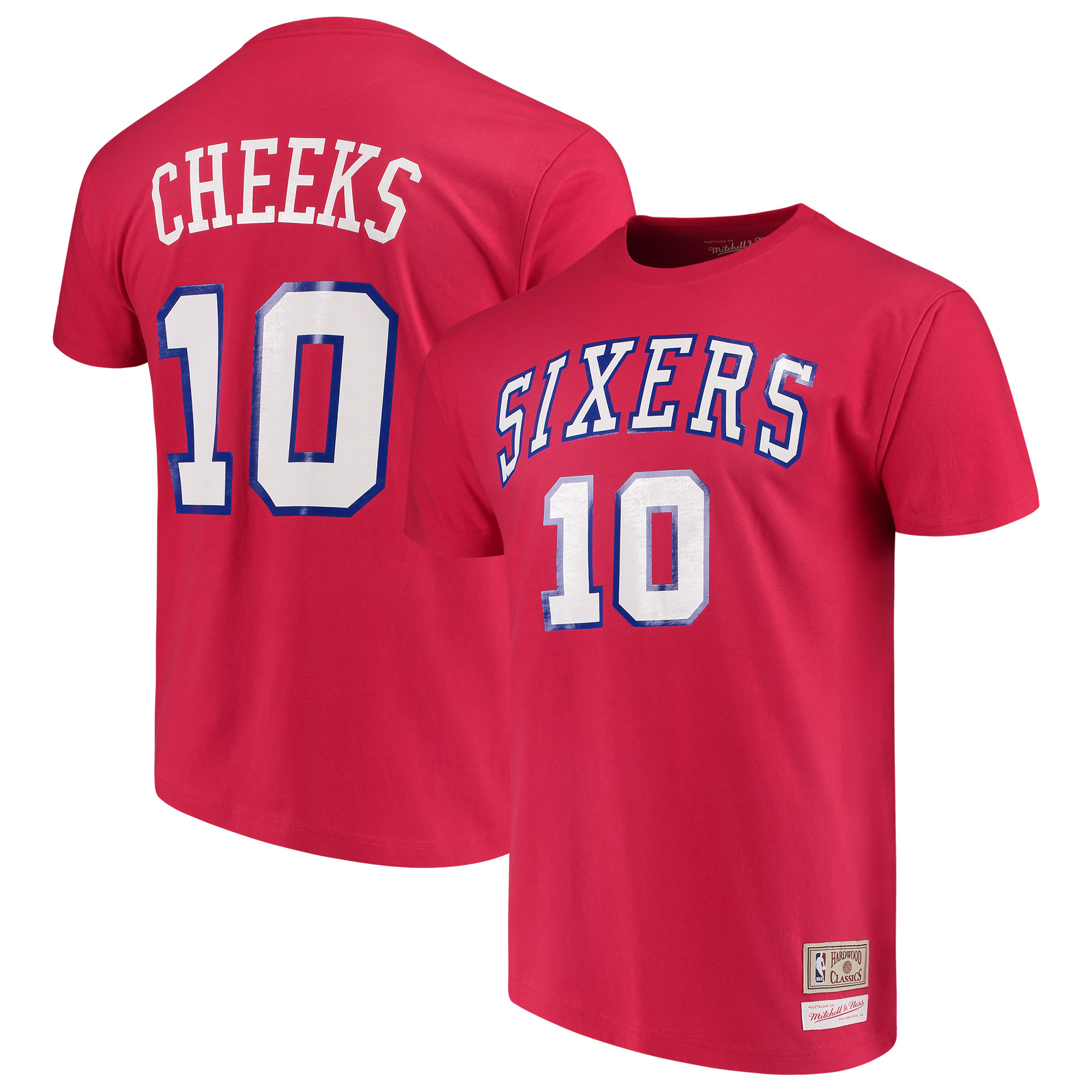 Maurice Cheeks Philadelphia 76ers Mitchell & Ness Hardwood Classics Name and Number T-Shirt - Red