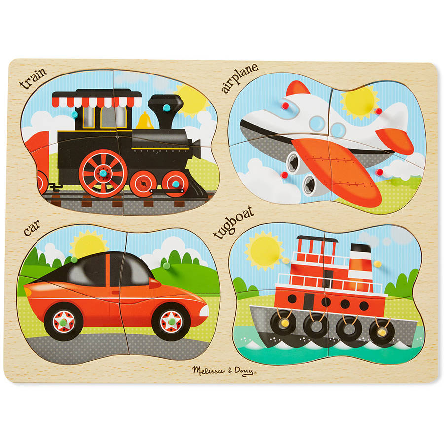 Melissa & Doug 4-in-1 Vehicles Peg