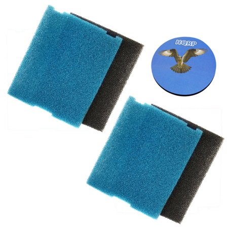 Image of HQRP 2-pack Coarse and Fine Flat Box Filter Foam Pads for Tetra FK5 / #26593 / FK6 / #26598 Filtration Fountain Kits + HQRP Coaster