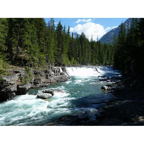 Framed Art For Your Wall River Montana Water Mountains Glacier National Park 10x13 Frame Walmart Com Walmart Com
