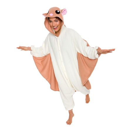 SILVER LILLY Unisex Adult Plush Animal Cosplay Costume Pajamas (Flying Squirrel)