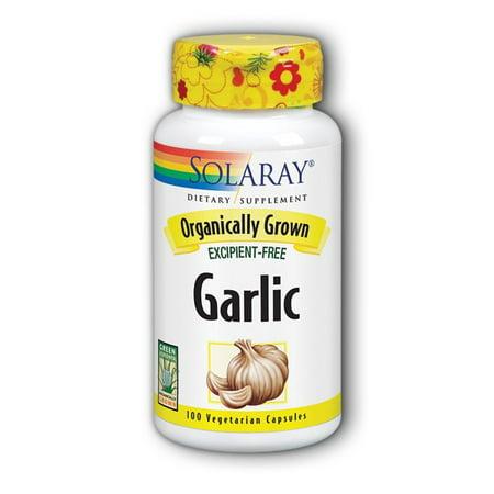 Garlic Parsley 100 Capsules - Solaray Organic Garlic 600 mg Capsules, 100 Ct
