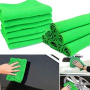 10/20Pcs Green Cleaning Cloths Fabric Micro Fiber Wipes Car Care Detailing Housekeeping Duster Towel 12'' x 12''