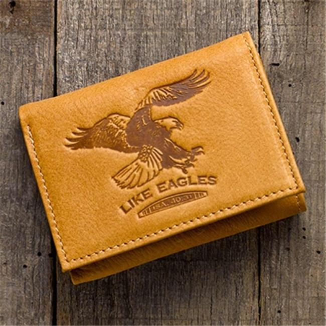 Christian Art Gifts 367760 Wallet - Genuine Leather - Like Eagles