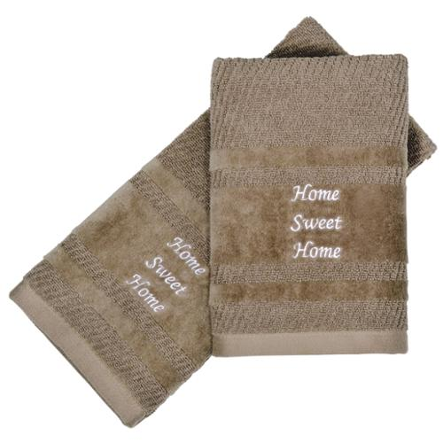 Peri Home Embroidered Home Sweet Home 2-piece Fingertip Towel Set