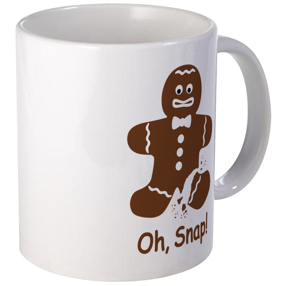 CafePress - Oh, Snap! Gingerbread Man Mugs - Unique Coffee Mug, Coffee Cup CafePress