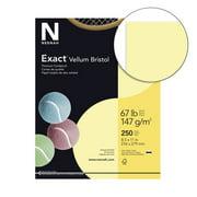 Exact Vellum Bristol Cardstock, 8-1/2 x 11 Inches, 67 lb, Yellow, Pack of 250