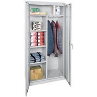 "Classic Series 36""W x 72""H x 18""D Combination Storage Cabinet with Adjustable Shelves"