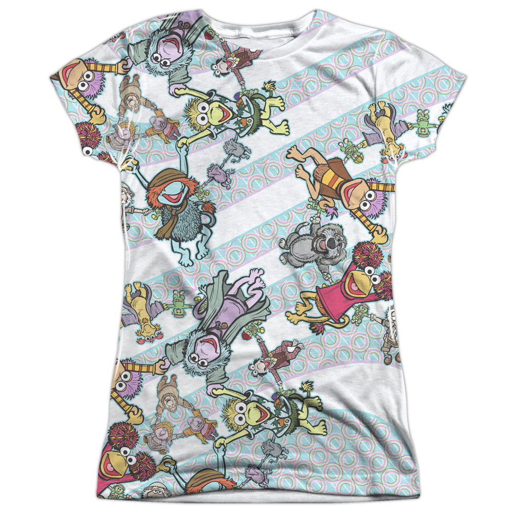 Fraggle Rock Cyclone (Front Back Print) Juniors Sublimation Shirt