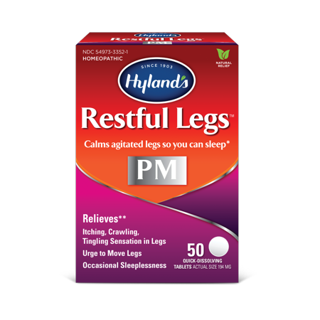 Hyland's Restful Legs PM Tablets, Calms agitated legs so you can sleep, 50