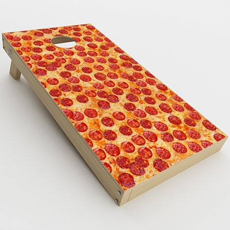 Skin Decal Vinyl Wrap for Cornhole Game Board Bag Toss (2xpcs.) Skins Stickers Cover / Pepperoni Pizza Yum](Cornhole Covers)