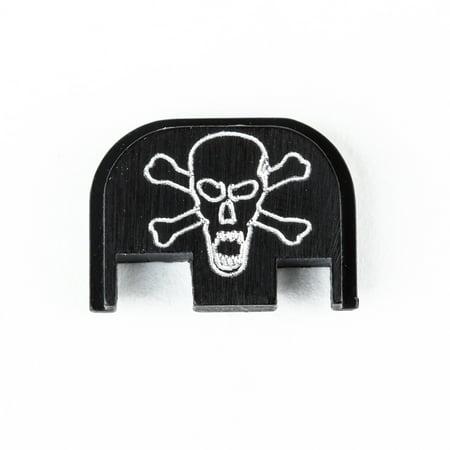 Glock Cover Plate - back plate for glock - scream skull