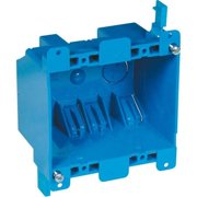 Thomas & Betts B225R-UPC PVC 2-Gang Adjustable Outlet Box 3-1/8 Inch x 3-15/16 Inch x 2-3/4 Inch 25 Cubic-Inch Carlon Blue