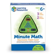 Learning Resources, LRNLER6965, Minute Math Electronic Flash Card, 1 Each