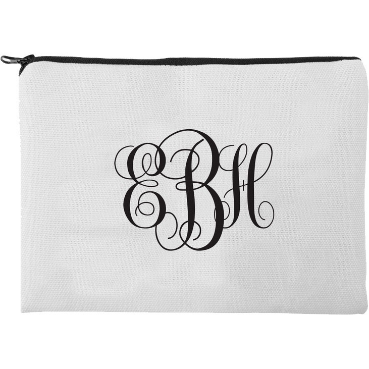 Monogram Personalized Makeup Bag