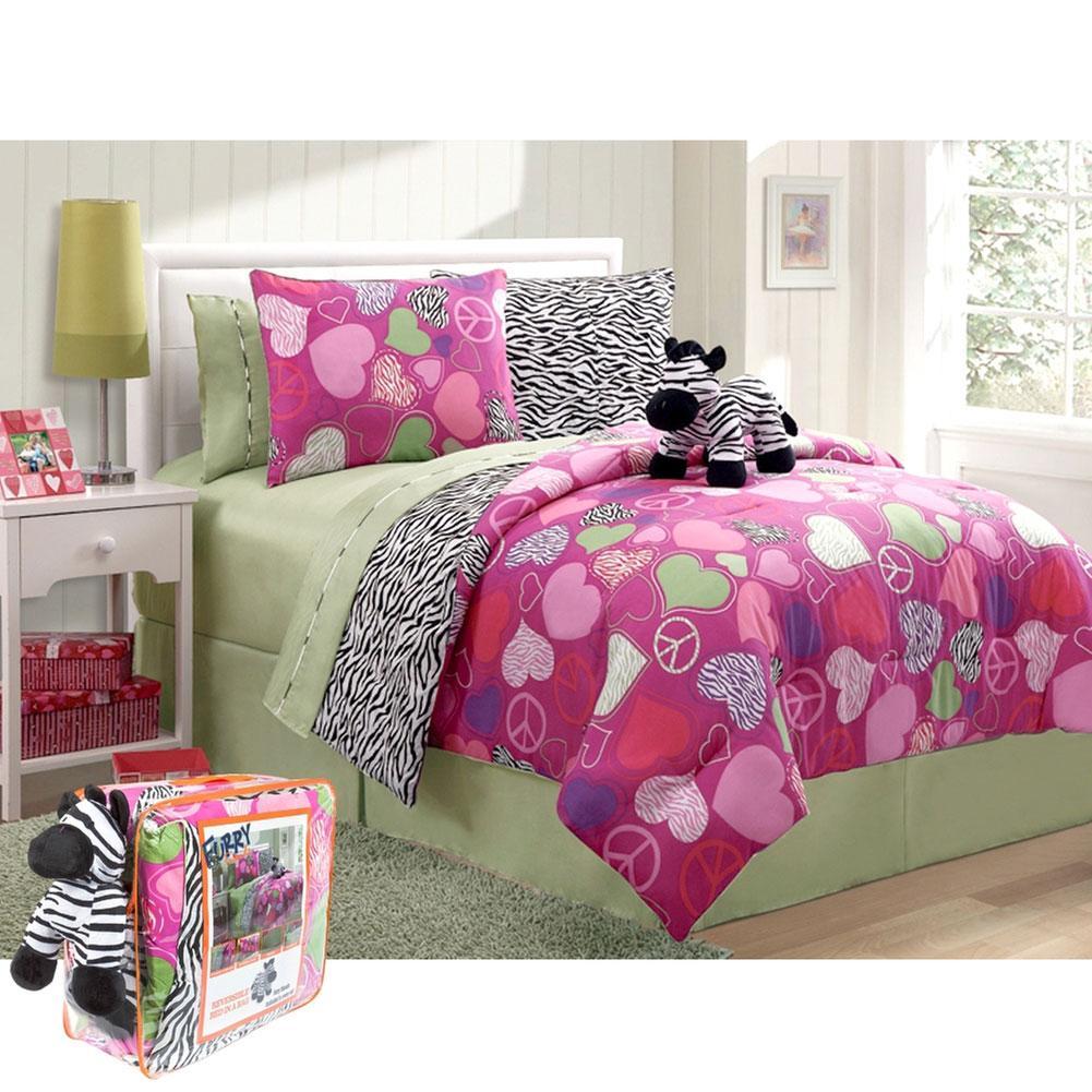 Victoria Zebra Bed in a Bag 7-Piece Twin Set