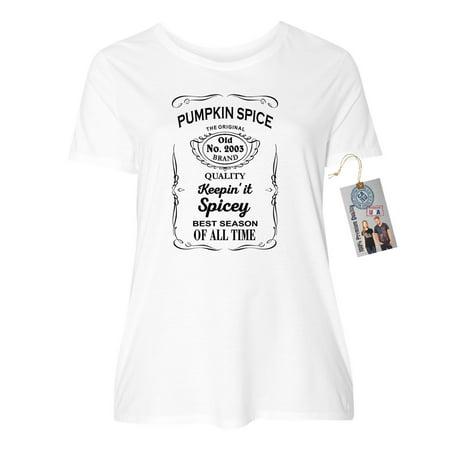 73646b3be Custom Apparel R Us - Pumpkin Spice Shirt Best Season Plus Size Womens  Short Sleeve T-Shirt Top - Walmart.com