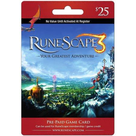 Jagex Runescape  25 Card